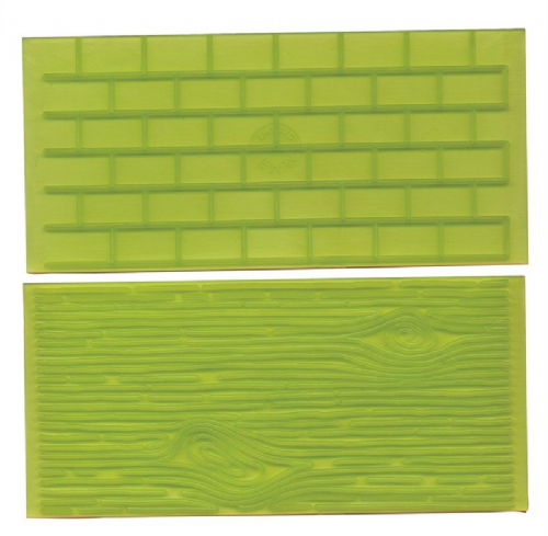 Tree Bark and Brick Wall Impression Mats
